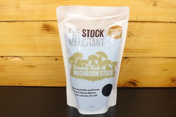 The Stock Merchant Umami Rich Mushroom Stock 500g Pantry > Broths, Soups & Stocks