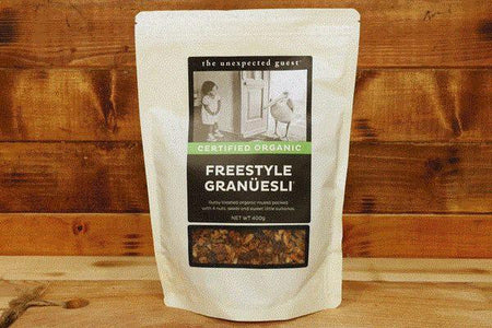 The Unexpected Guest Organic Freestyle Granuesli Muesli 400g Pantry > Granola, Cereal, Oats & Bars