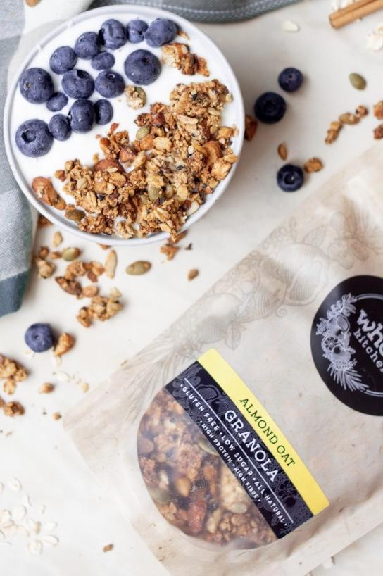 The Whole Kitchen Almond Oat Granola 315g Pantry > Granola, Cereal, Oats & Bars