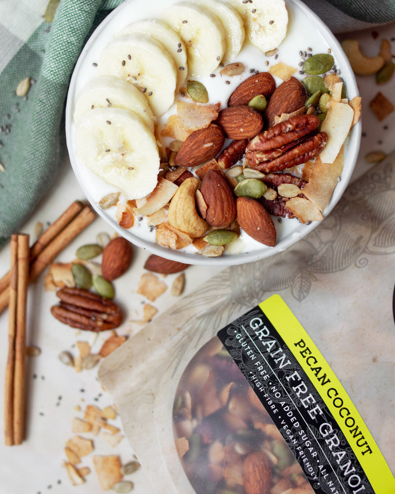 The Whole Kitchen Grain Free Pecan Coconut Granola 315g Pantry > Granola, Cereal, Oats & Bars