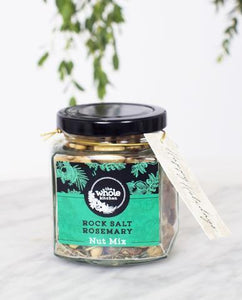 The Whole Kitchen RockSalt Rosemary Nut Mix Gift Jar 130g Pantry > Dried Fruit & Nuts