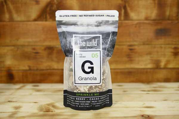 The Wild Berry & Cacao Granola 360g Pantry > Granola, Cereal, Oats & Bars