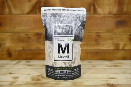 The Wild Lime & Coconut Muesli 360g Pantry > Granola, Cereal, Oats & Bars