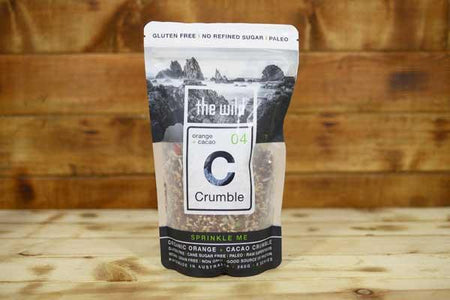 The Wild Orange & Cacao Crumble 360g Pantry > Granola, Cereal, Oats & Bars