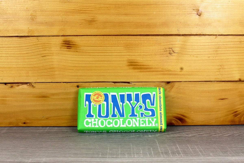 Tony's Chocolonely Dark Chocolate Almond & Sea Salt 180g Pantry > Confectionery