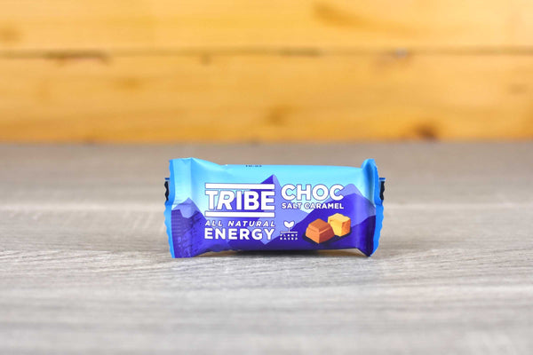 Tribe Chocolate Salt Caramel Infinity Bar 50g Pantry > Cookies, Biscuits & Sweet Snacks
