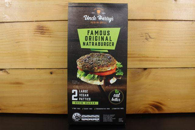 Uncle Harry Uncle Harry's Original Natraburger 6x120g Freezer > Meat Alternatives