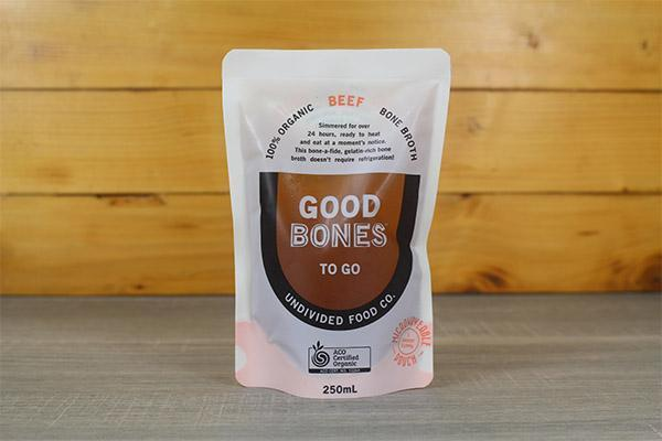 Undivided Food Co Good Bones Organic Beef Broth 250ml Pantry > Broths, Soups & Stocks