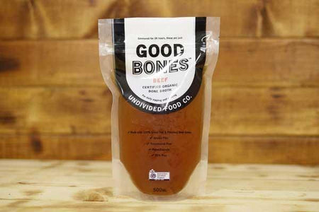 Undivided Food Co Organic Beef Bone Broth 500ml Pantry > Broths, Soups & Stocks