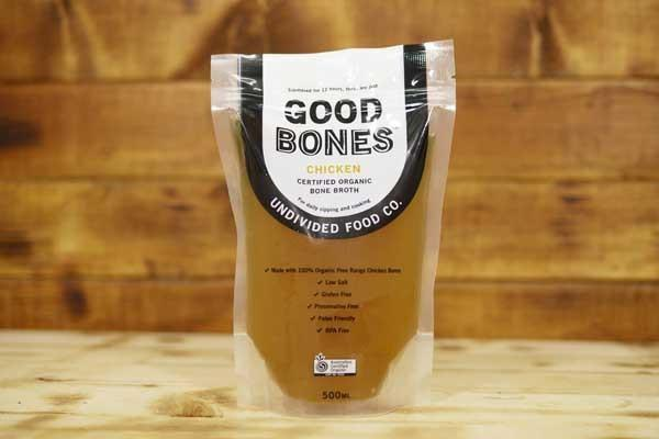 Undivided Food Co Organic Chicken Bone Broth 500ml Pantry > Broths, Soups & Stocks