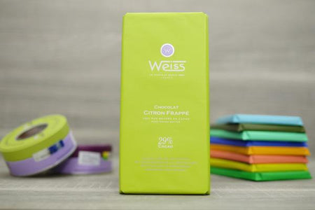 Weiss Citron Lemon 29% Chocolate Bar 100g Pantry > Confectionery