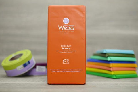 Weiss Dark Chocolate & Candied Orange Peels Bar 100g Pantry > Confectionery