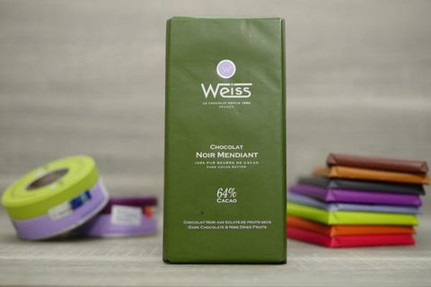 Weiss Dark Chocolate & Nibs Dried Fruits Bar 100g Pantry > Confectionery
