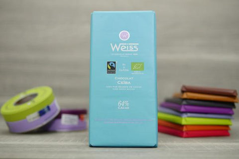 Weiss Dominican Republic Pure Origin Ceiba 64% Chocolate Bar 100g Pantry > Confectionery