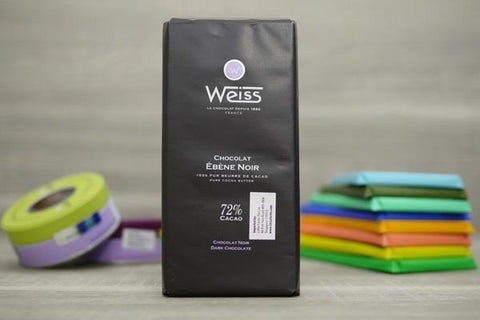 Weiss Ebene 72% Dark Chocolate Bar 100g Pantry > Confectionery