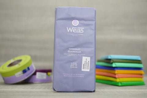 Weiss Gianduja 35% Chocolate Bar 100g Pantry > Confectionery