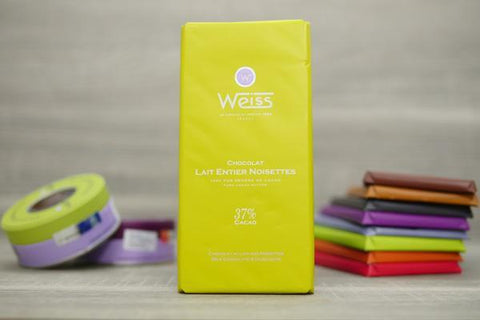 Weiss Hazelnuts 37% Chocolate Bar 100g Pantry > Confectionery