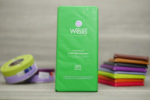 Weiss Milk Chocolate & Nibs Dried Fruits Bar 100g Pantry > Confectionery