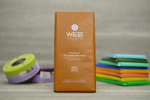 Weiss Milk Chocolate & Sesame Seeds Bar 100g Pantry > Confectionery
