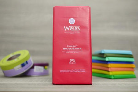 Weiss White Chocolate & Crisp Red Fruits Bar 100g Pantry > Confectionery