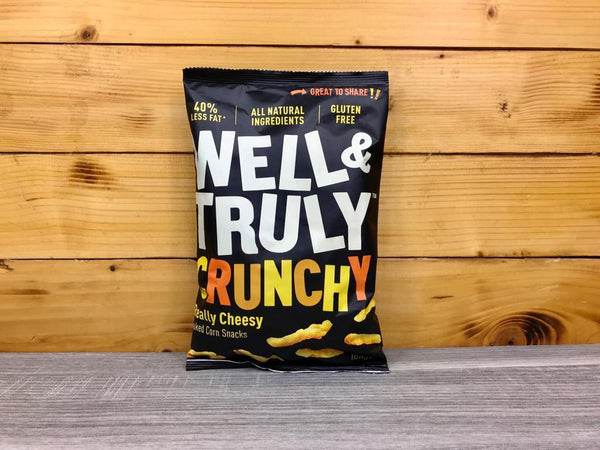 Well & Truly Crunchies Really Cheesey 100g Pantry > Cookies, Chips & Snacks