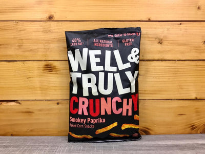 Well & Truly Crunchies Smokey Paprika 100g Pantry > Cookies, Chips & Snacks