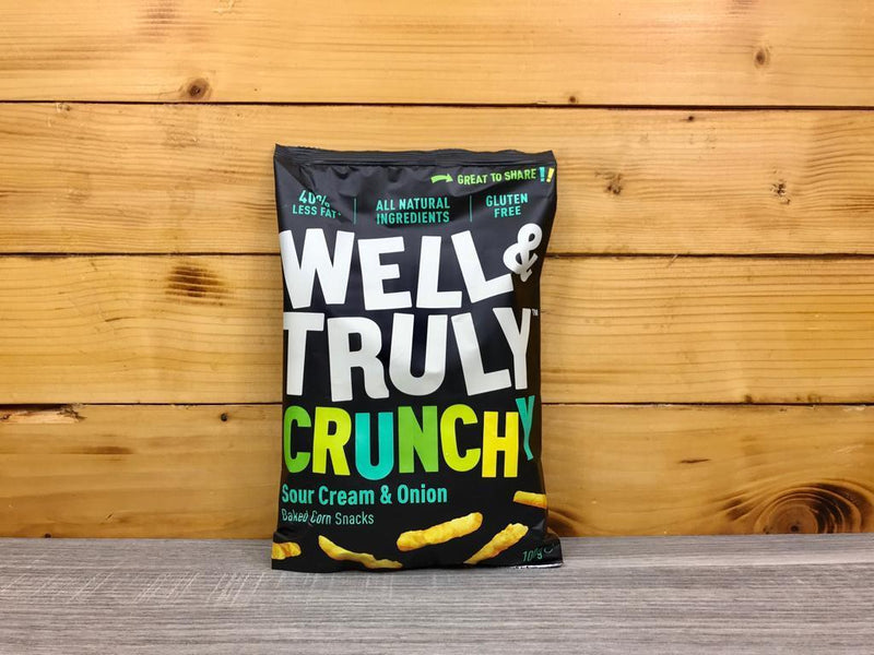 Well & Truly Crunchies Sour Cream & Onion 100g Pantry > Cookies, Chips & Snacks