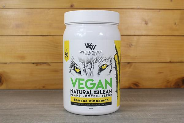 White Wolf Nutrition Banana Cinnamon Lean Vegan Protein 900g Pantry > Protein Powders & Supplements