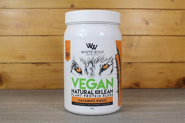 White Wolf Nutrition Caramel Swirl Lean Vegan Protein 900g Pantry > Protein Powders & Supplements