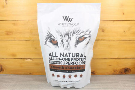 White Wolf Nutrition Chocolate All in 1 Protein Blend 1kg Pantry > Protein Powders & Supplements