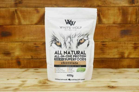 White Wolf Nutrition Chocolate All in 1 Protein Blend 400g Pantry > Protein Powders & Supplements