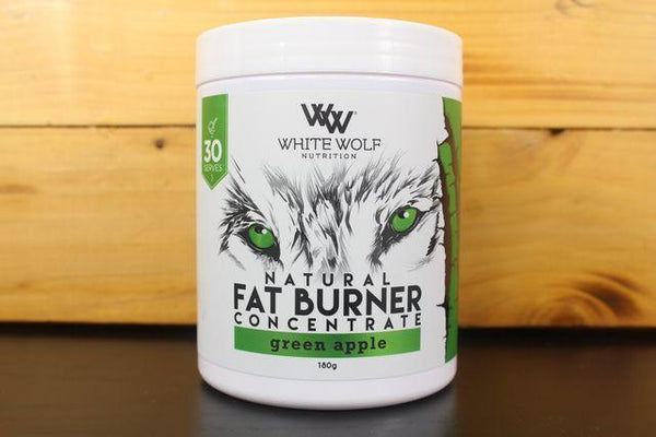 White Wolf Nutrition Green Apple Fat Burner Concentrate 180g Pantry > Protein Powders & Supplements