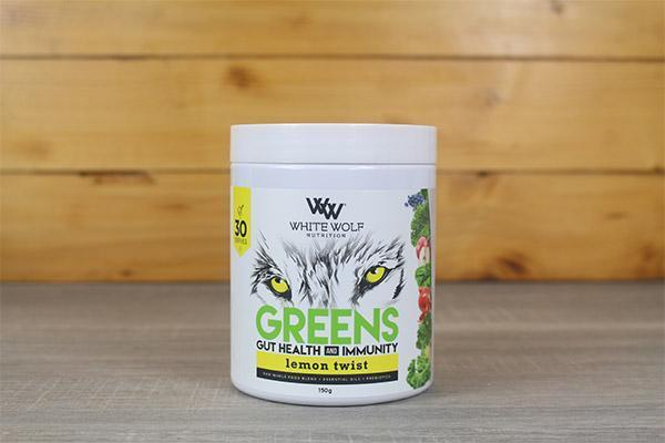 White Wolf Nutrition Lemon Twist Green Immunity Super Blend 150g Pantry > Protein Powders & Supplements