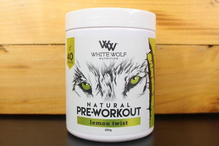 White Wolf Nutrition Lemon Twist Pre Work 250g Pantry > Protein Powders & Supplements