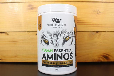 White Wolf Nutrition Passion Pineapple Vegan Ess Amino 360g Pantry > Protein Powders & Supplements