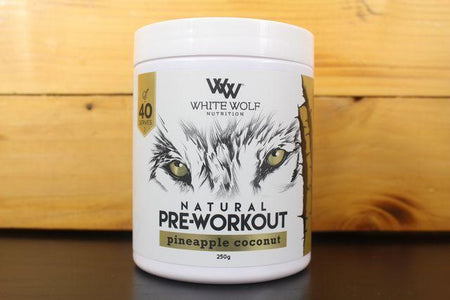 White Wolf Nutrition Pineapple Coconut Pre Work 250g Pantry > Protein Powders & Supplements