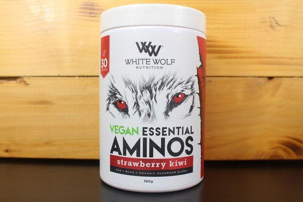 White Wolf Nutrition Strawberry Kiwi Vegan Ess Amino 360g Pantry > Protein Powders & Supplements