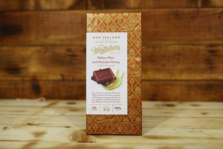 Whittaker's Artisan Nelson Pear & Manuka Honey in Milk Chocolate 100g Pantry > Confectionery