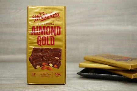 Whittaker's Choc Blk Almond Gold 200g Pantry > Confectionery