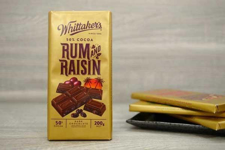 Whittaker's Choc Blk Rum & Raisin 50% 200g Pantry > Confectionery