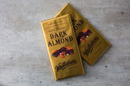 Whittaker's Dark Almond Chocolate 62% Cacao 200g Pantry > Confectionery