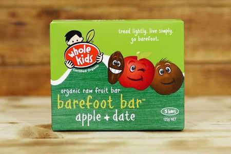 Whole Kids Organic Apple & Date Barefoot Bar (5 Pack) Pantry > Baby Food & Kids Corner
