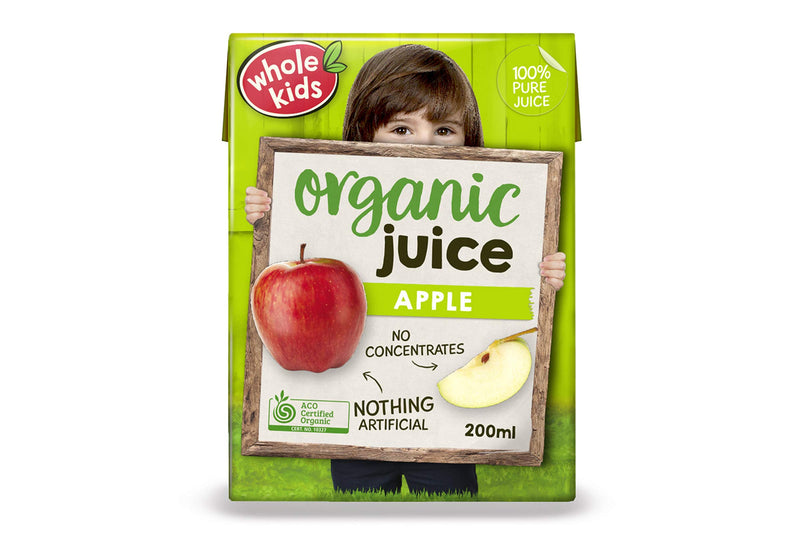 Whole Kids Organic Apple Juice 200ml Pantry > Baby Food & Kids Corner