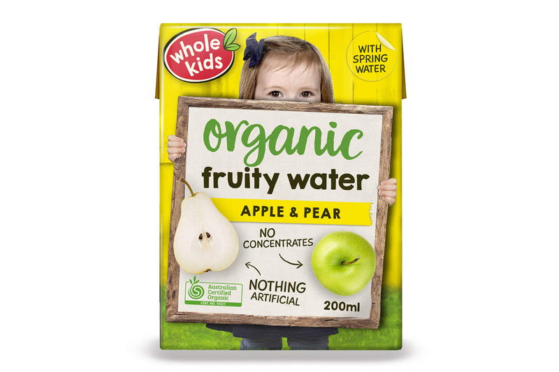 Whole Kids Organic Apple & Pear Fruity Water 200ml Pantry > Baby Food & Kids Corner