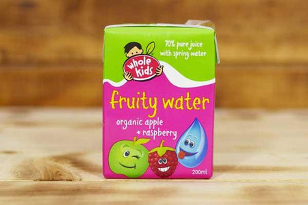 Whole Kids Organic Apple & Raspberry Fruity Water 200ml Pantry > Baby Food & Kids Corner