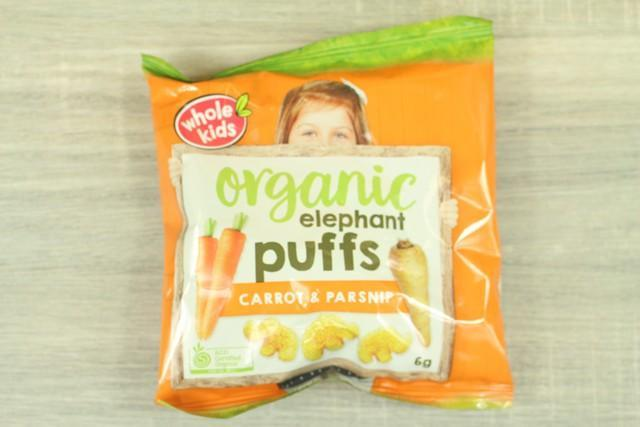 Whole Kids Organic Elephant Puffs Single Bag 6g Pantry > Baby Food & Kids Corner