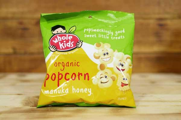 Whole Kids Organic Manuka Honey Popcorn 50g Pantry > Baby Food & Kids Corner