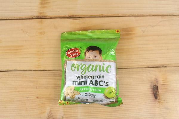 Whole Kids Organic Mini ABC Biscuits Apple Chia 30g Pantry > Baby Food & Kids Corner
