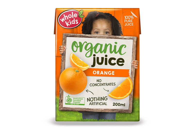 Whole Kids Organic Orange Juice 200ml Pantry > Baby Food & Kids Corner