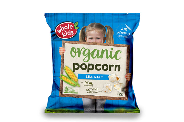 Whole Kids Organic Sea Salt Popcorn 12g Pantry > Baby Food & Kids Corner